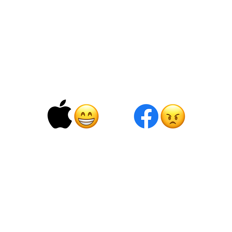 Apple happy, Facebook angry""