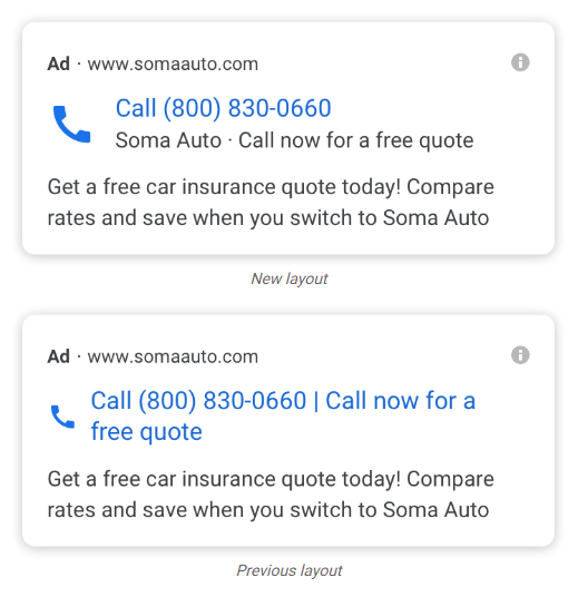 Redesigned Call-Only Ads