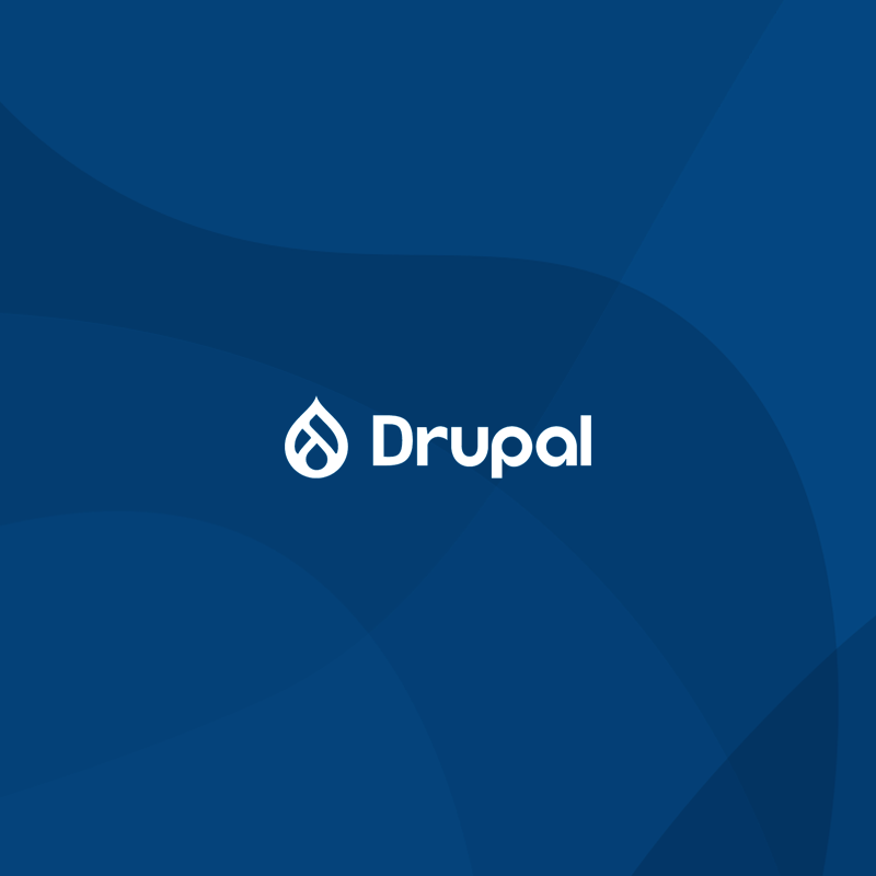 Drupal blue color wordmark logo