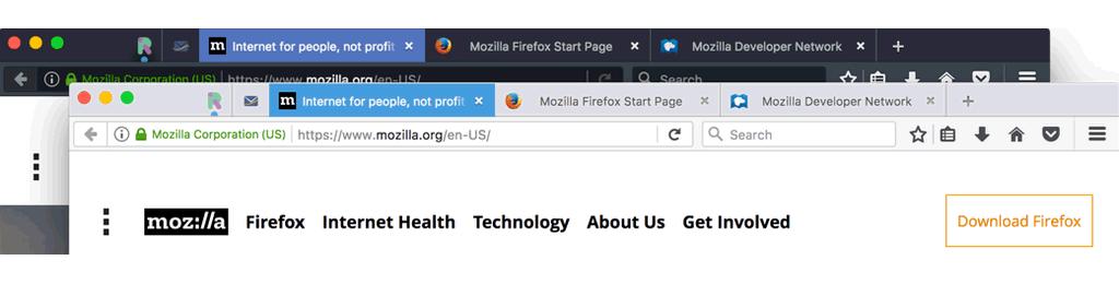 Firefox 53 from project quantum themes separate graphic process with half a billion people around the world using firefox mozilla said that firefox version 53 ships with two new themes compact light and compact dark voltagebd Images