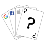Google, Facebook, Apple - playing cards