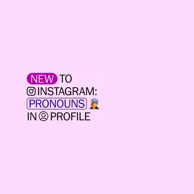 Instagram pronouns