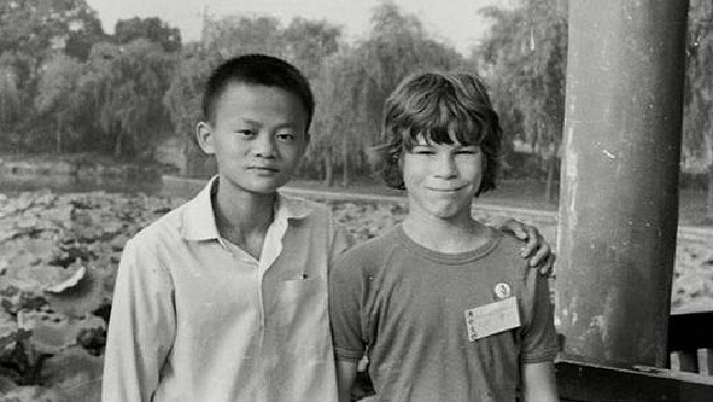 Jack Ma and David Morley in 1980