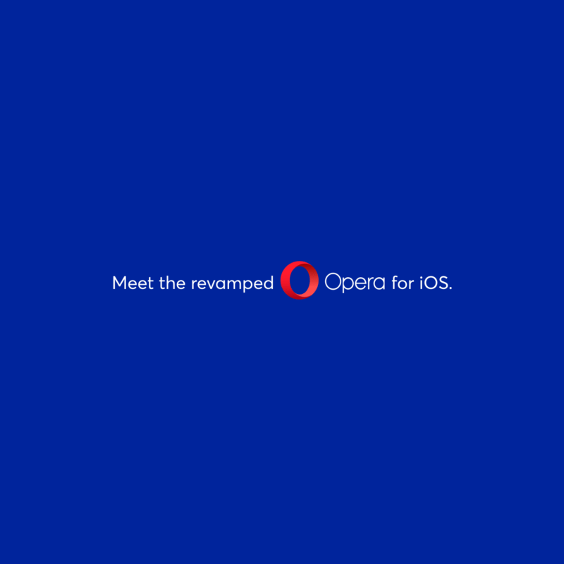 Meet the revamped Opera for iOS