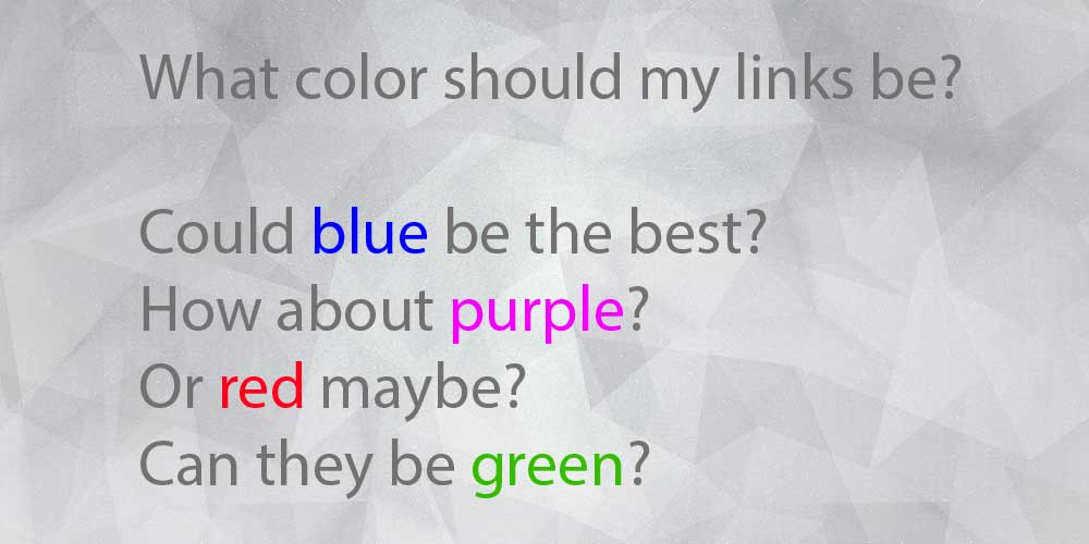 Website link colors